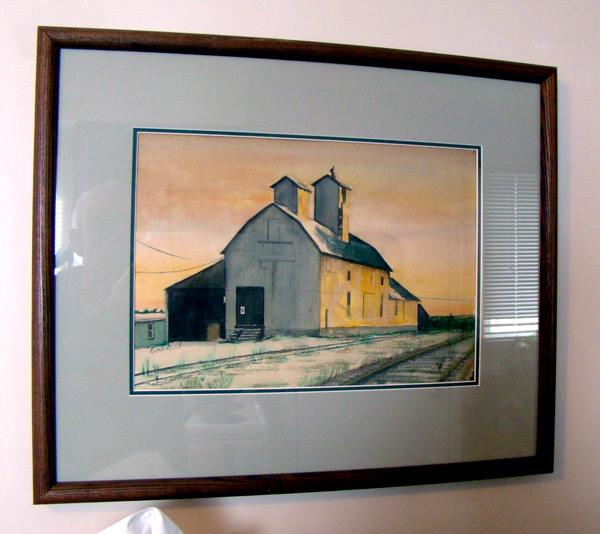 "Whitechurch Barn, 12"" x 16"", Watercolour,"