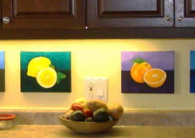 """Fruits of Labour, 4 paintings 8"""" x 10"""" O/C - $60.00 ea - Set of four $210.00"""