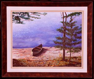 """Awaiting the Morning Paddle, 16"""" x 20"""" O/C - SOLD"""