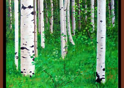 "Birch Forest, 16"" x 16"" O/C - $250.00"