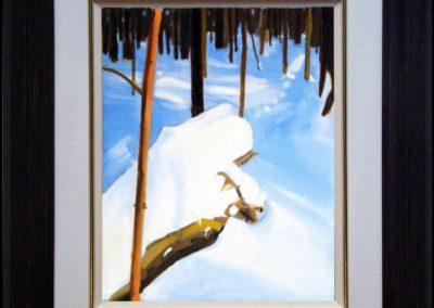 """Fallen, Altona-Forest, 10"""" x 12"""" O/C - $125.00"""