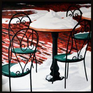 """Iced Cafe, 30"""" x 30"""" O/C - $350.00"""