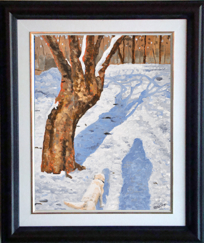 """Me and My Shadow, 11"""" x 14"""" O/C - NFS"""