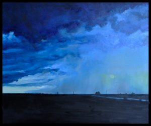 """Motown Stormy Weather 24"""" x 24"""" O/C, SOLD"""