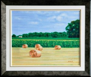 """The Red Barn, 18"""" x 24"""" O/C - $225.00"""