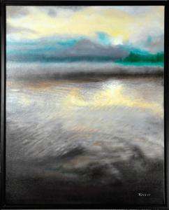 "Misty Morning at the Lake - 24""x 30"", O/C"