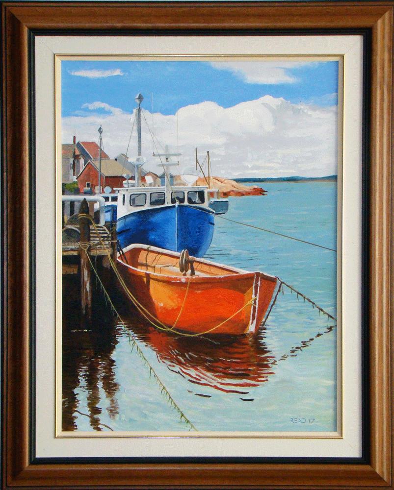 """Safe Harbour, 18"""" x 24"""", O/C."""