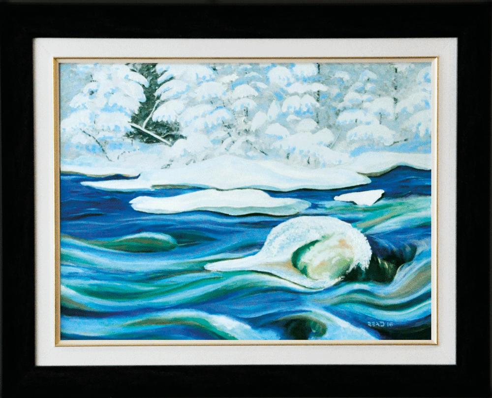 Watching the River Run, 18″ x 24″, O/C - $300.00