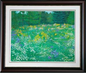 """Wild Meadow, 16"""" x 20"""" O/C."""