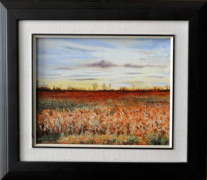 """October-Sunset, 10"""" x 12"""" O/C - $125.00"""