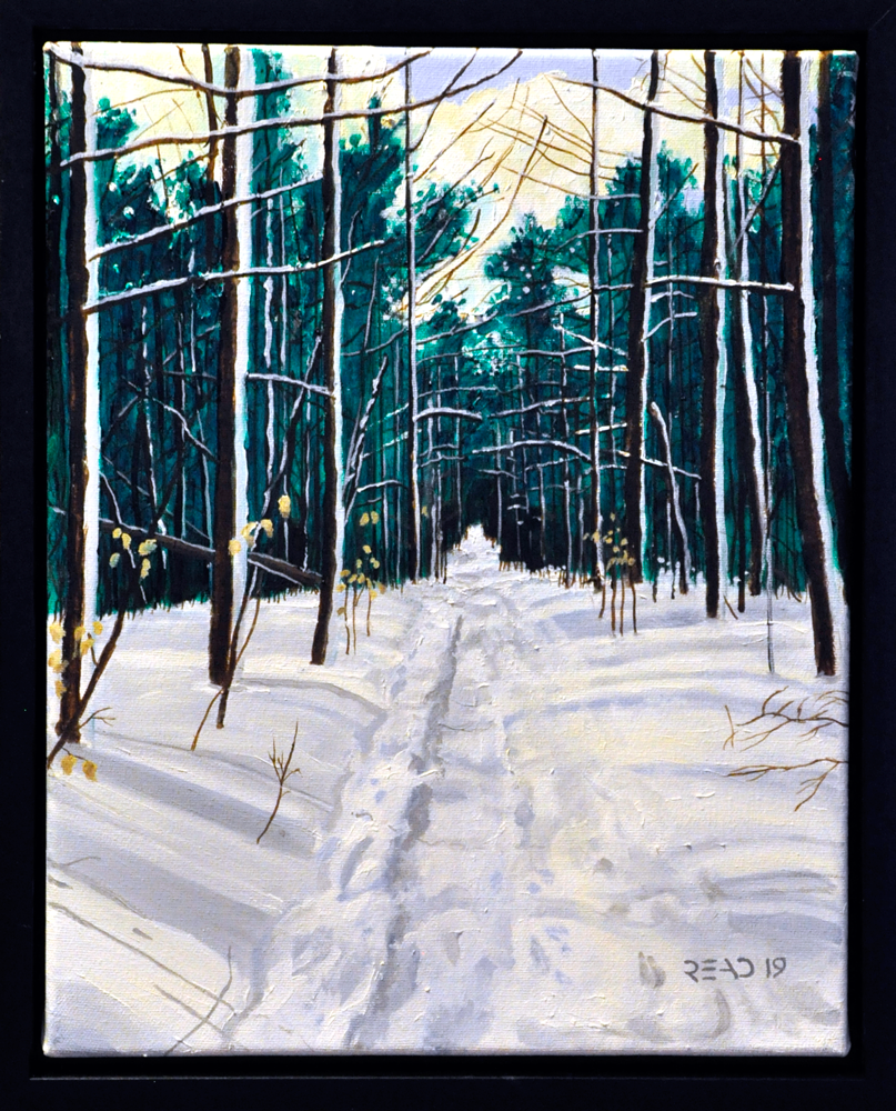 "Winter Trail 1, 11"" x 14"" O/C - SOLD"