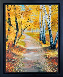 """Autumn Trail, 11' x 14"""", O/C"""