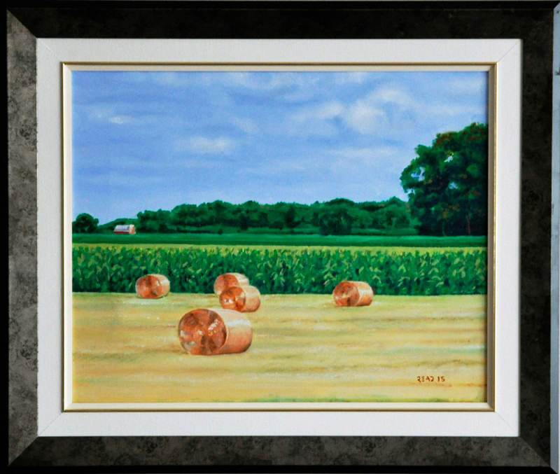 """The Red Barn, 16"""" x 20"""" O/C - $250.00"""