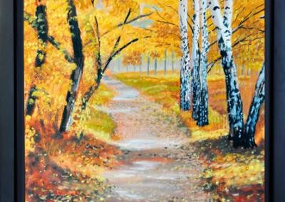 Autumn Trail, 11′ x 14″, O/C - $200.00