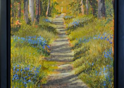 Spring Trail, 11″ x 14″, O/C, $200.00