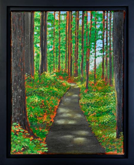 Summer Trail, 11″ x 14″, O/C - $200.00