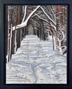 Winter Trail, 11″ x 14″, O/C, $200.00