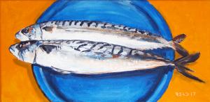 Holy Mackerel – The Blue Plate Special 8″ x 16″ O/C