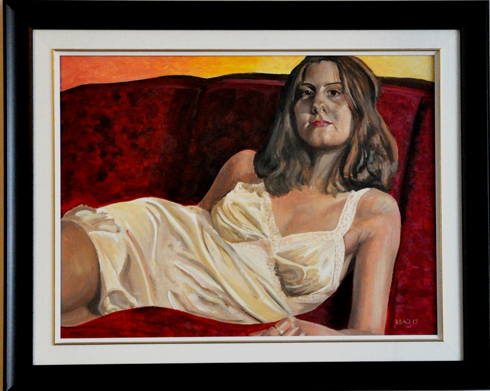"Woman Reclined, 18"" x 24"" O/C - $300.00"
