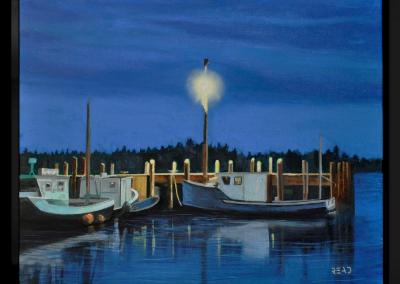 Sleepy Harbour, 16″ x 20″, O/C, $350.00