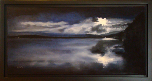 """Here Comes the Night"""", 12"""" x 24"""" O/C"""